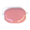 Glass Bead Fancy rectang. 13x9mm Rose Strung